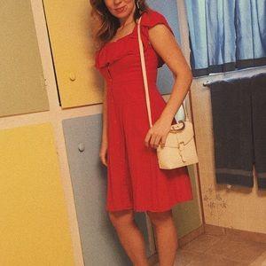 Red h&m off the shoulder dress sz. S